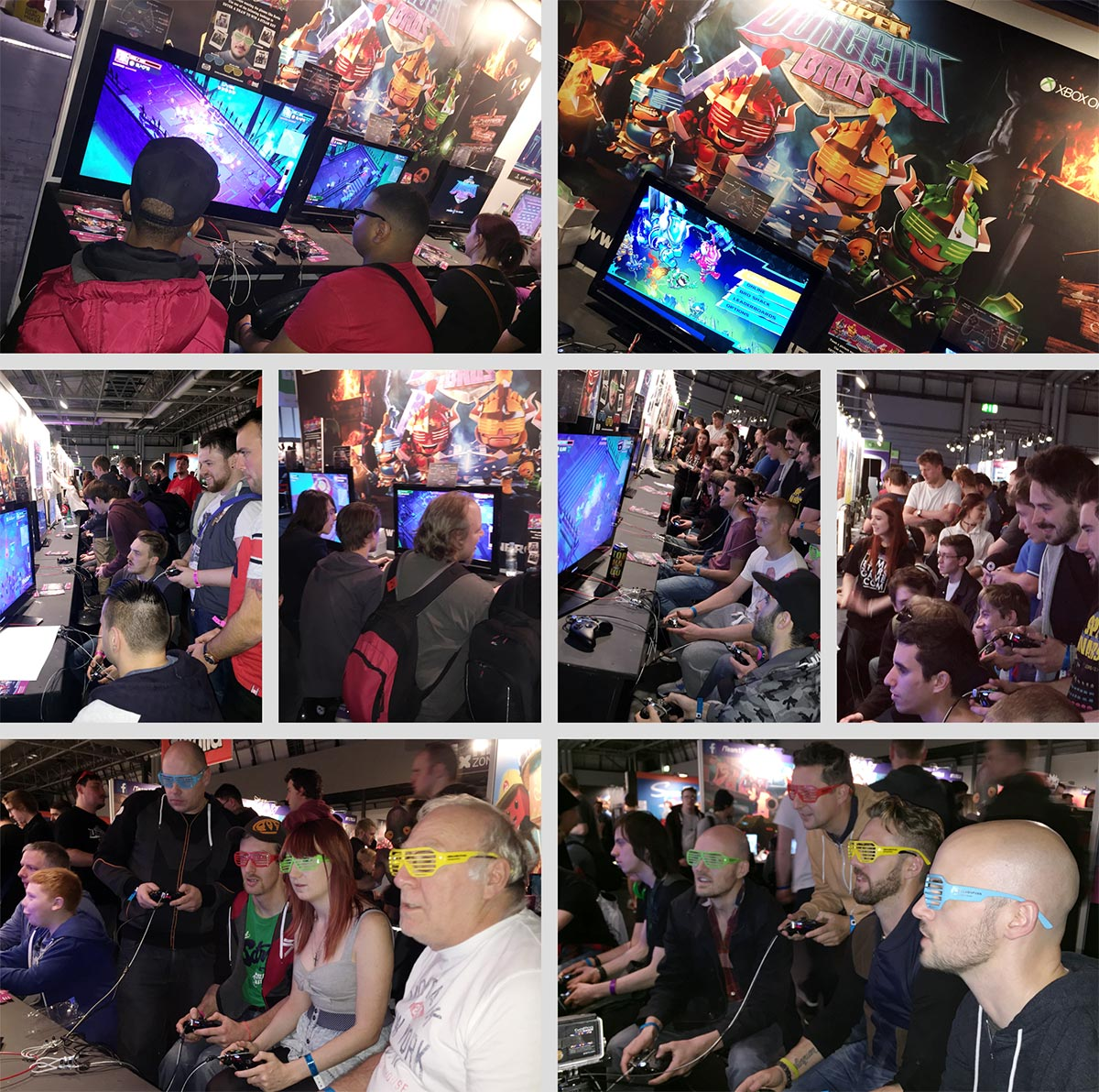 Fans enjoying Super Dungeon Bros @ EGX in Birmingham