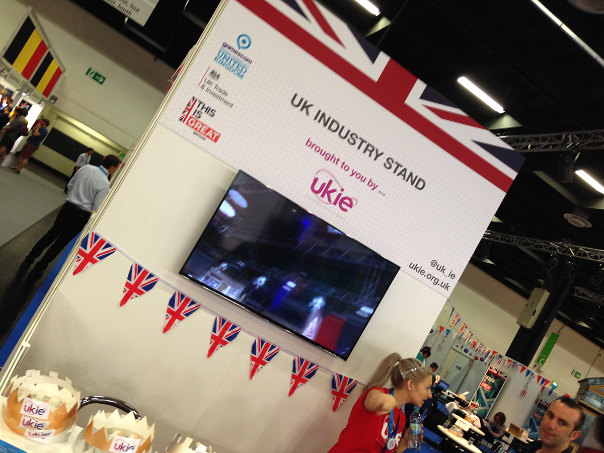 Reception of the UKIE stand at Gamescom 2015